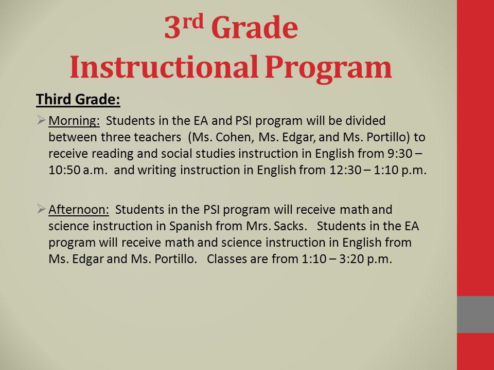 3rd Grade Instructional Program