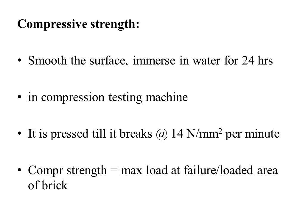 Compressive strength: