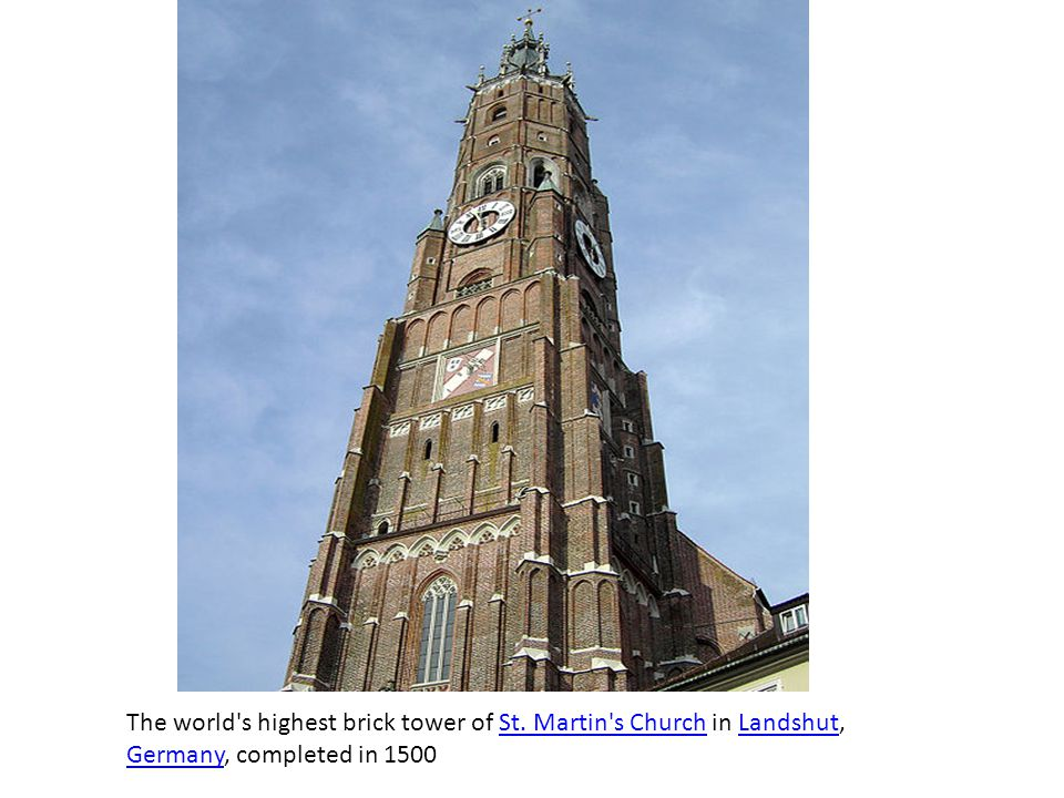The world s highest brick tower of St
