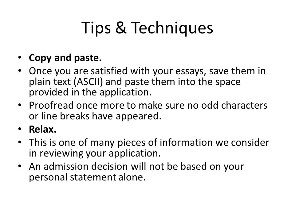 Tips & Techniques Copy and paste.
