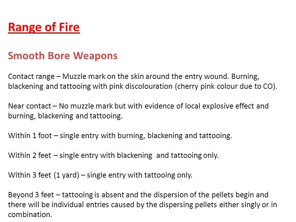 Range of Fire Smooth Bore Weapons