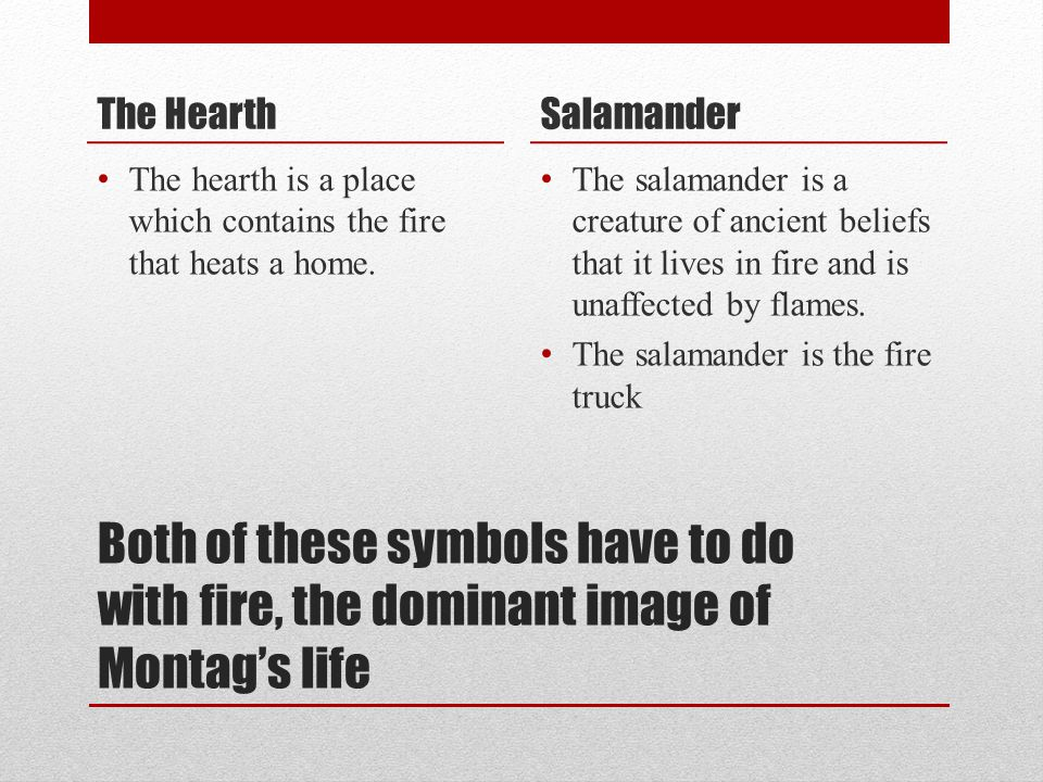 The Hearth Salamander. The hearth is a place which contains the fire that heats a home.