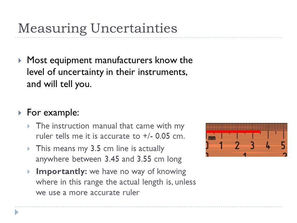 Measuring Uncertainties