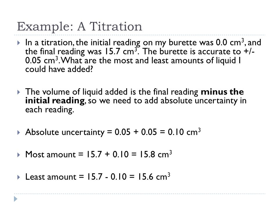 Example: A Titration