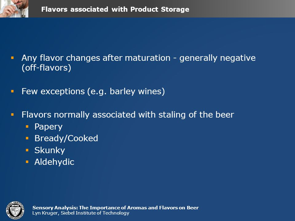 Flavors associated with Product Storage