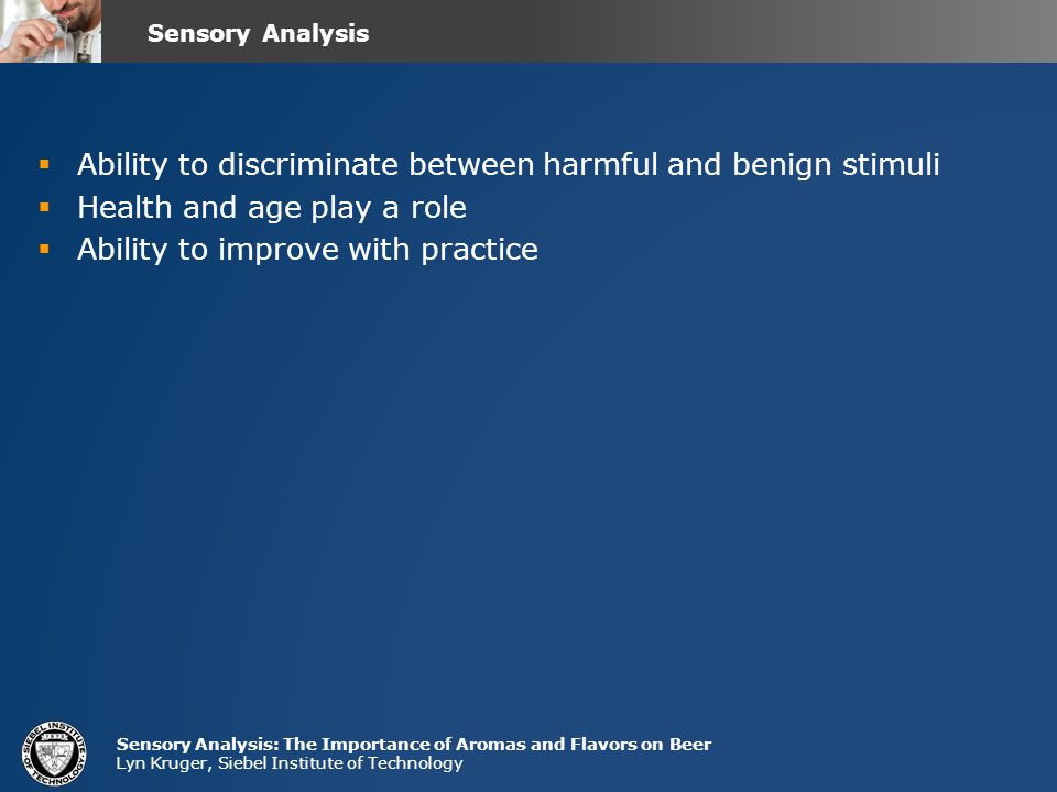 Ability to discriminate between harmful and benign stimuli