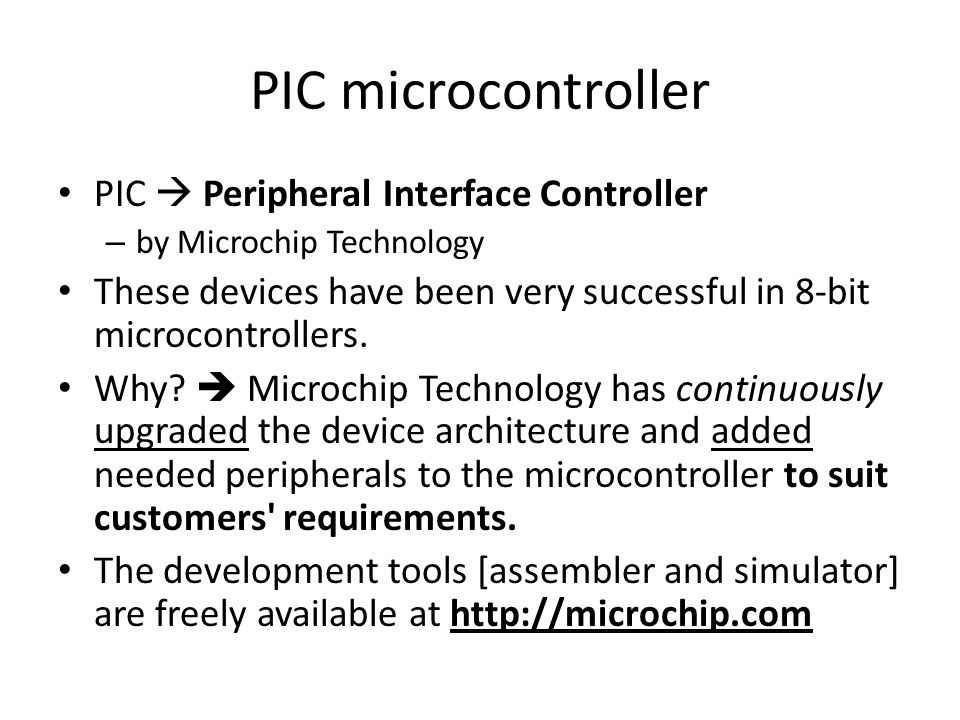 PIC microcontroller PIC  Peripheral Interface Controller