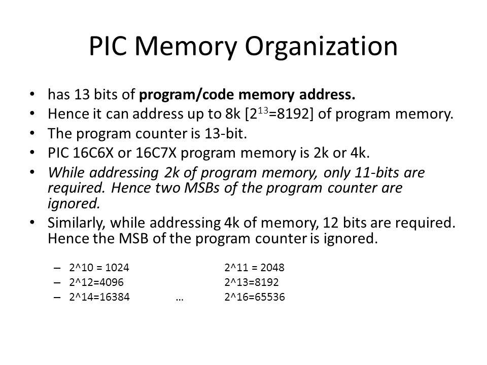 PIC Memory Organization