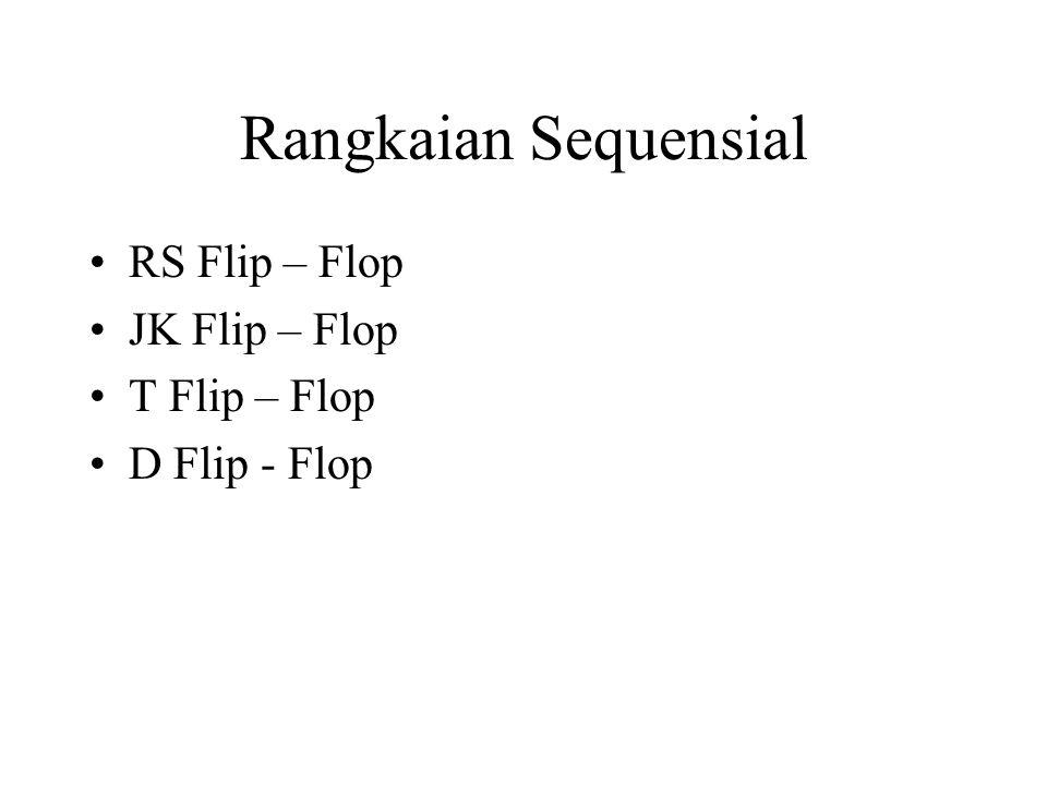 Rangkaian Sequensial RS Flip – Flop JK Flip – Flop T Flip – Flop