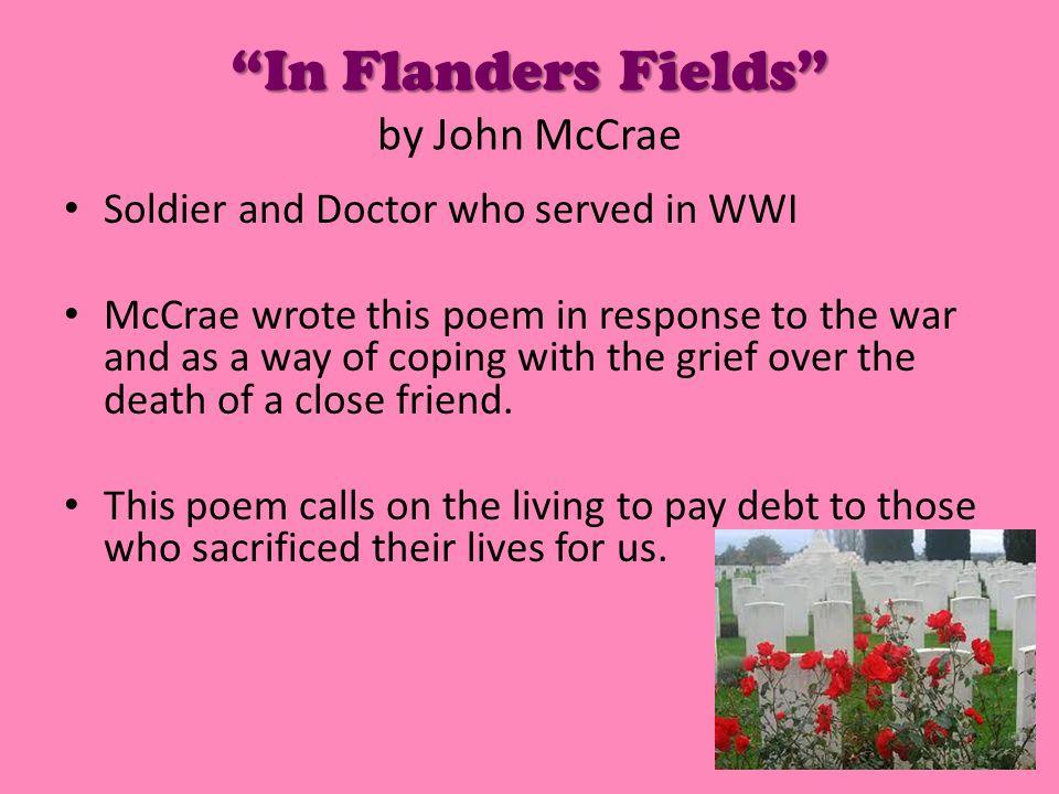 In Flanders Fields by John McCrae