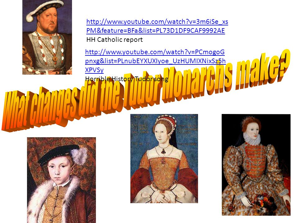 What changes did the Tudor Monarchs make