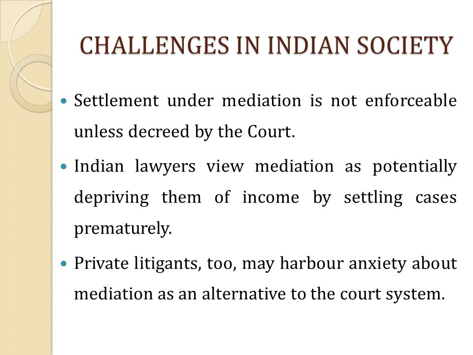 CHALLENGES IN INDIAN SOCIETY