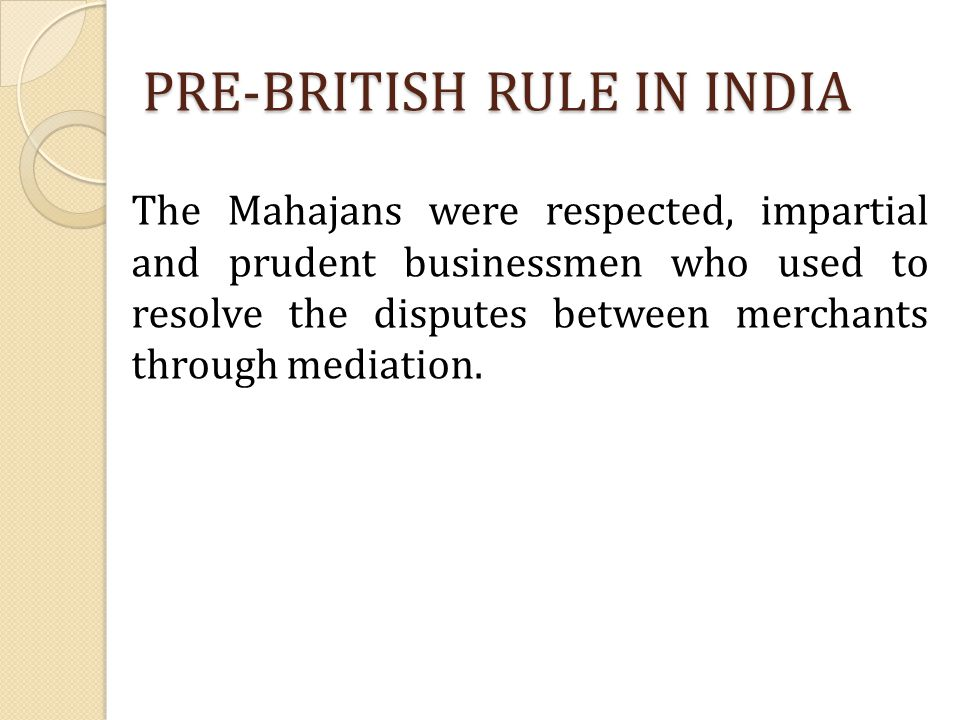 PRE-BRITISH RULE IN INDIA