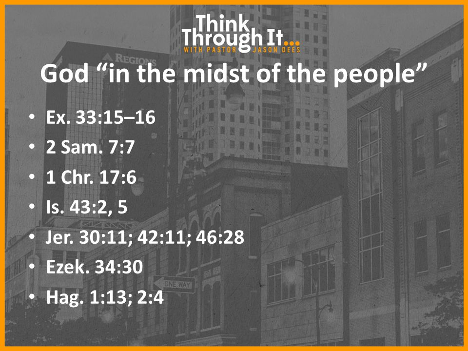 God in the midst of the people