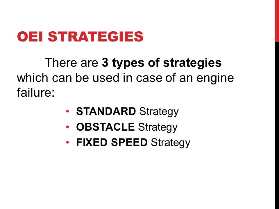 OEI STRATEGIES STANDARD Strategy OBSTACLE Strategy