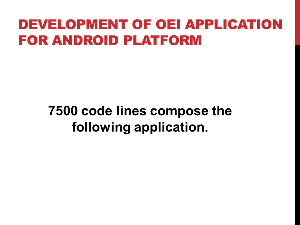 Development of OEI Application for Android Platform