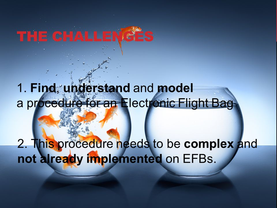 THE CHALLENGEs 1. Find, understand and model