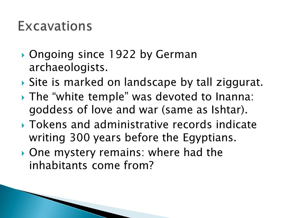 Excavations Ongoing since 1922 by German archaeologists.