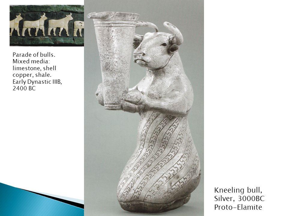 Kneeling bull, Silver, 3000BC Proto-Elamite