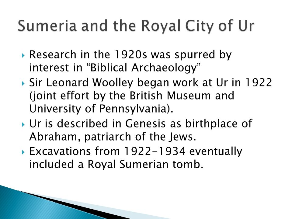 Sumeria and the Royal City of Ur