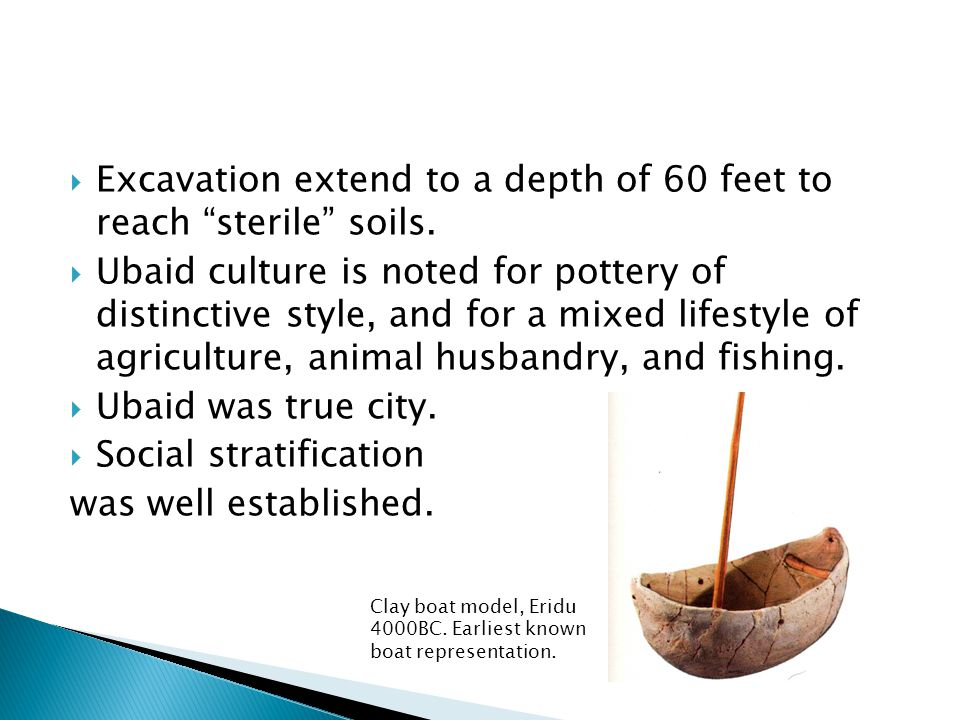 Excavation extend to a depth of 60 feet to reach sterile soils.