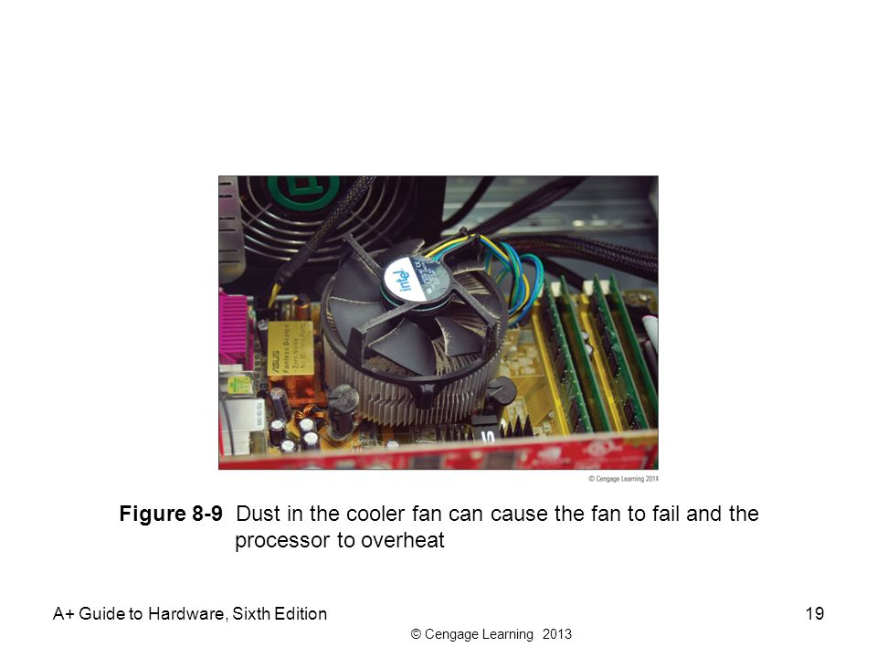 Figure 8-9 Dust in the cooler fan can cause the fan to fail and the