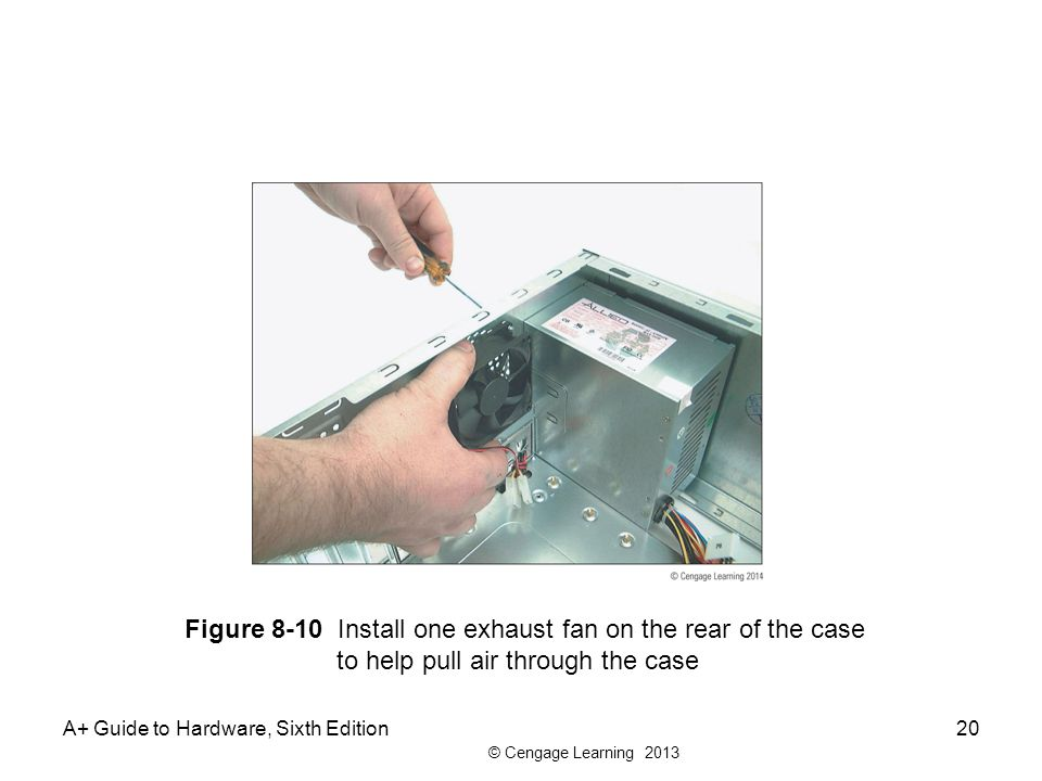 Figure 8-10 Install one exhaust fan on the rear of the case