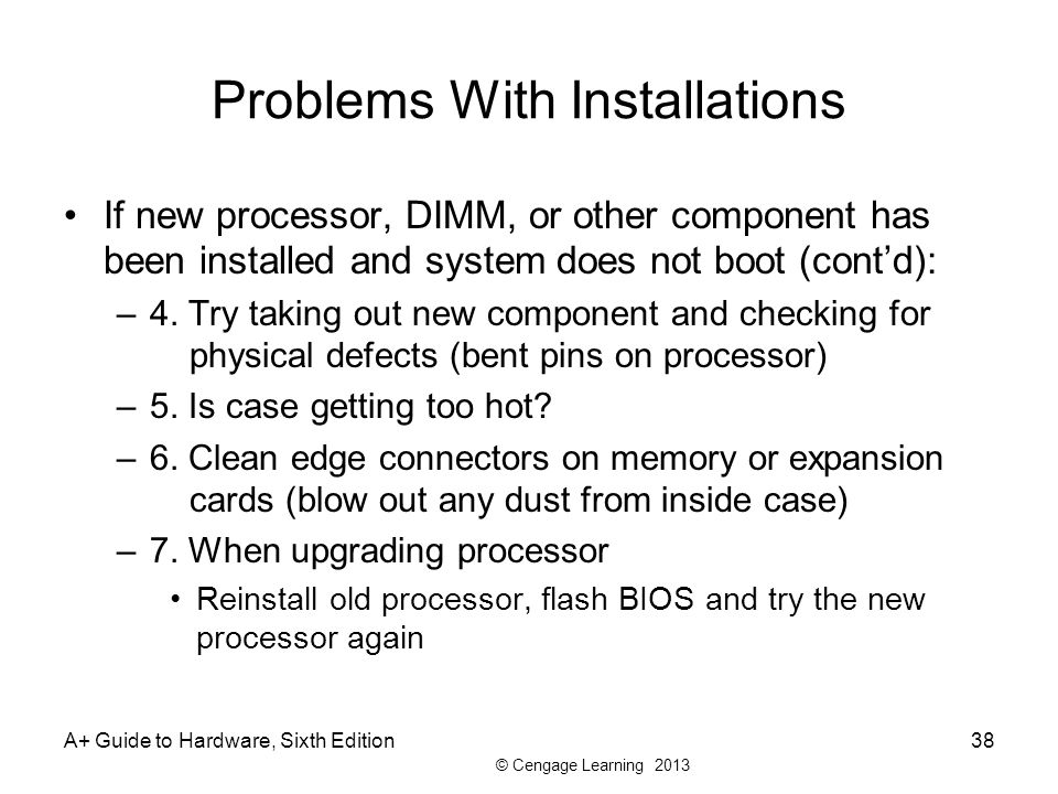 Problems With Installations