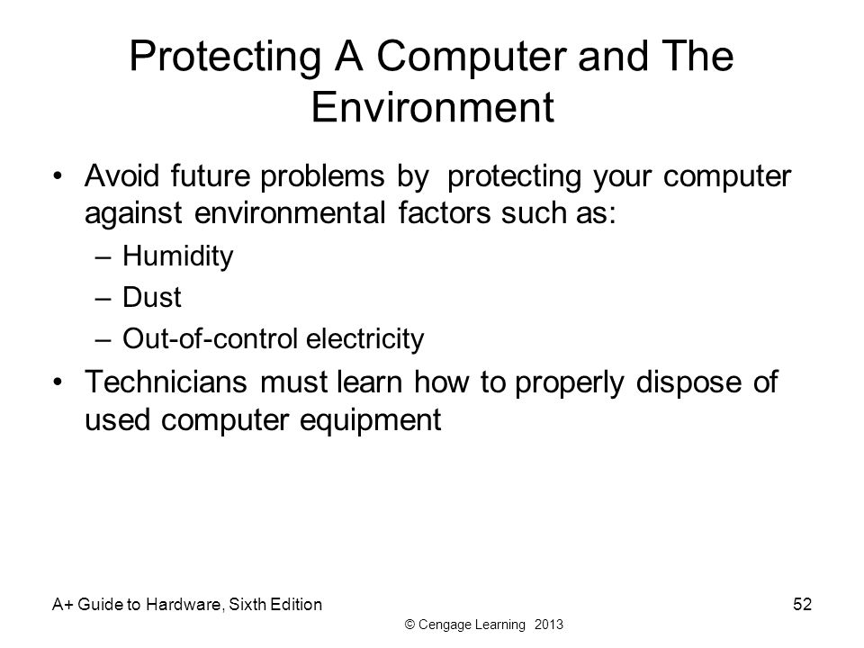 Protecting A Computer and The Environment