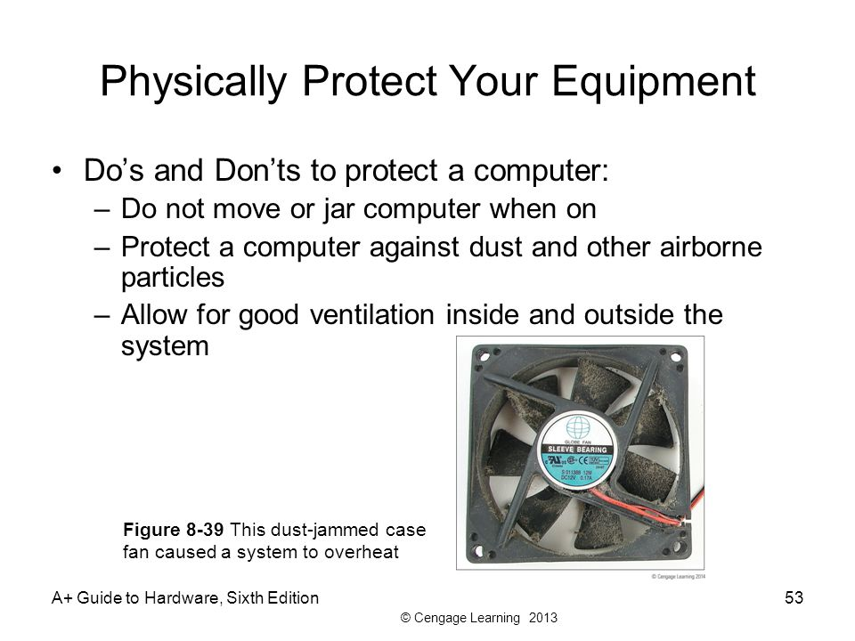 Physically Protect Your Equipment