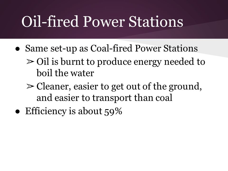 Oil-fired Power Stations