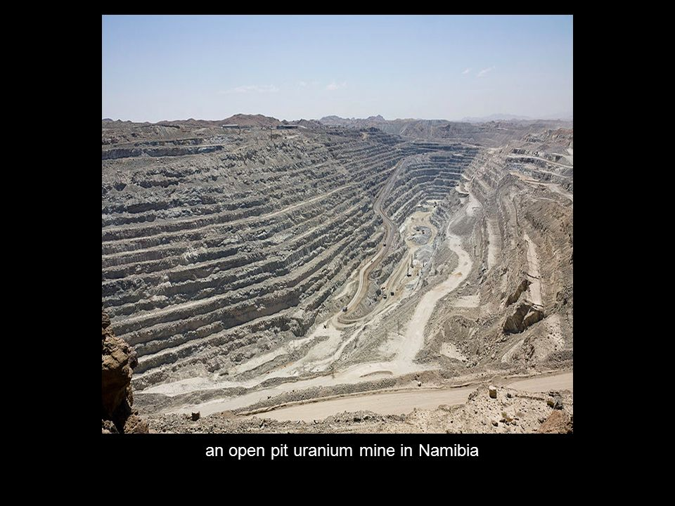 an open pit uranium mine in Namibia