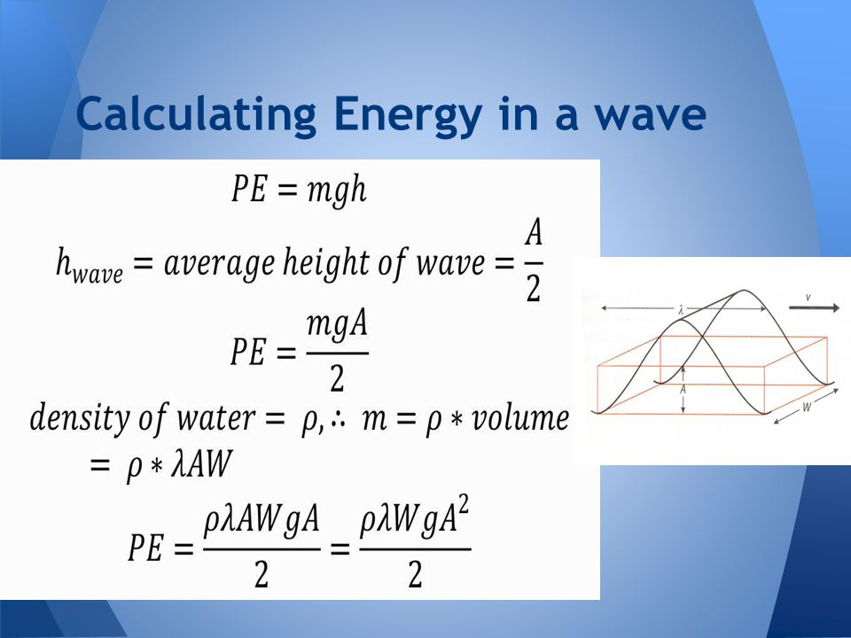 Calculating Energy in a wave
