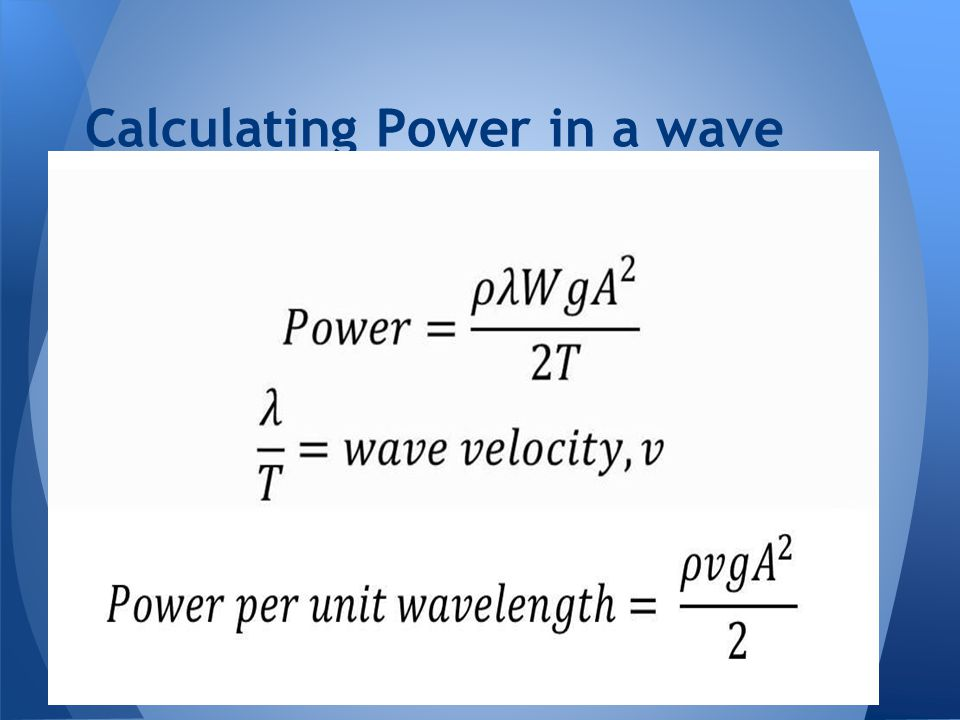 Calculating Power in a wave