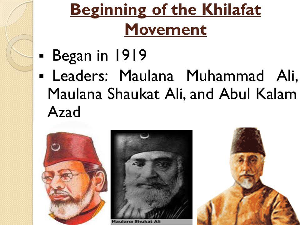 Beginning of the Khilafat Movement
