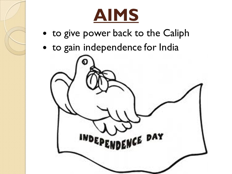 AIMS to give power back to the Caliph to gain independence for India