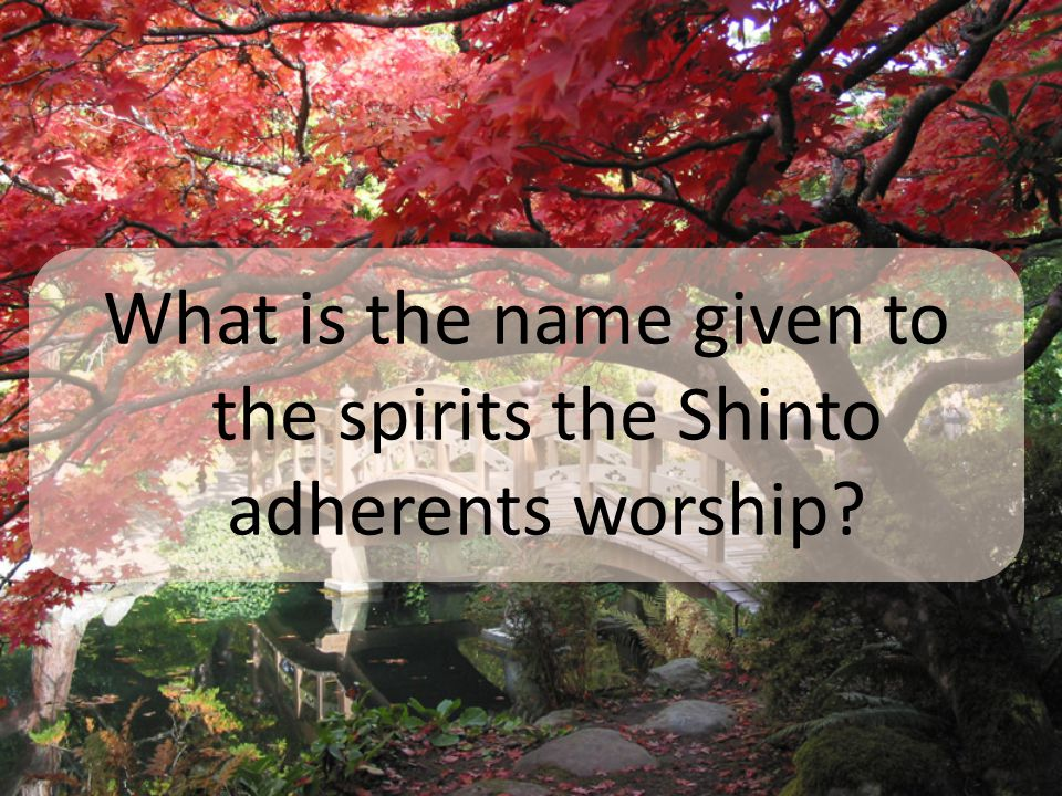 What is the name given to the spirits the Shinto adherents worship