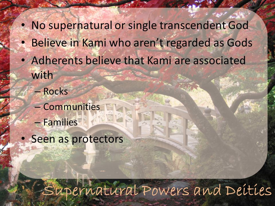 Supernatural Powers and Deities