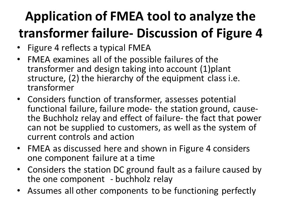 Application of FMEA tool to analyze the transformer failure- Discussion of Figure 4