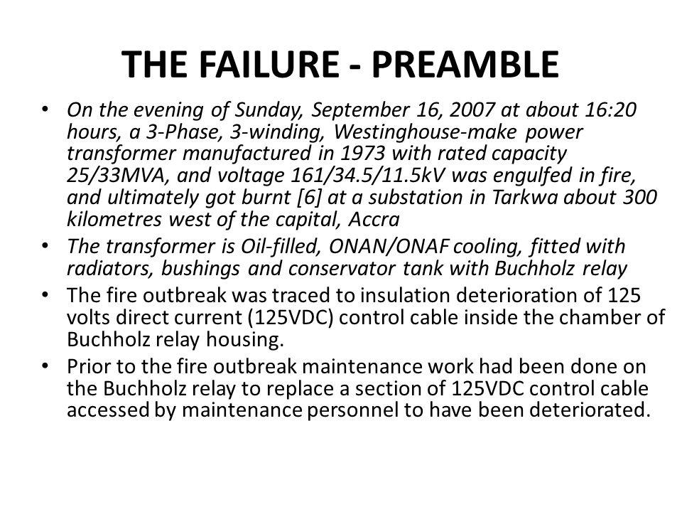 THE FAILURE - PREAMBLE