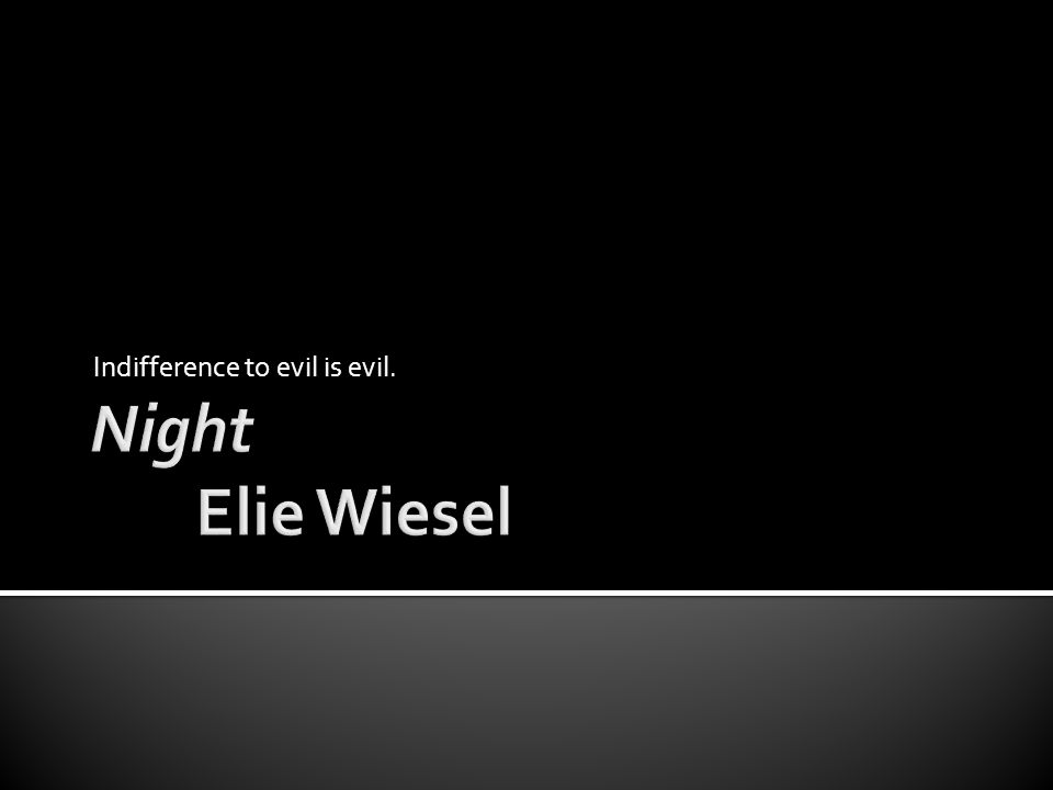 Indifference to evil is evil.