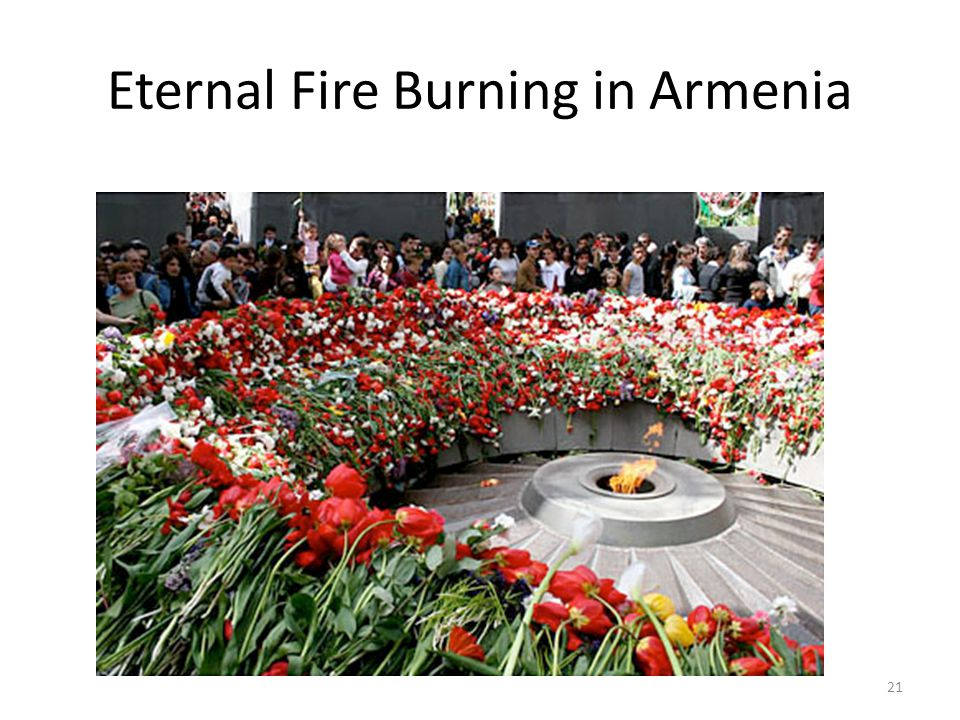 Eternal Fire Burning in Armenia