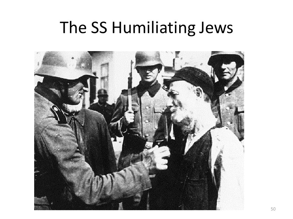 The SS Humiliating Jews
