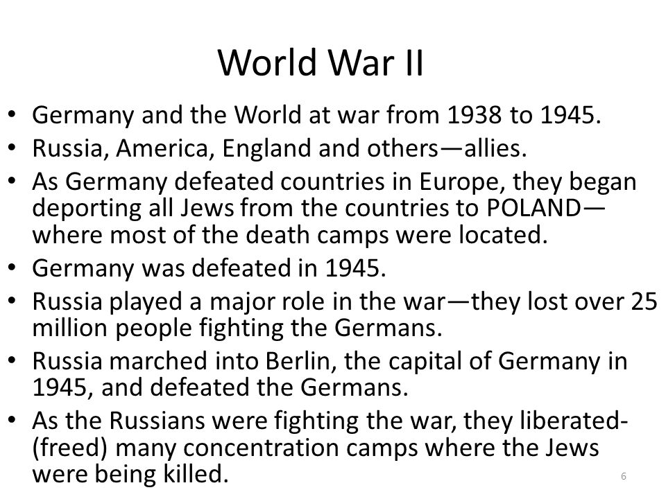 World War II Germany and the World at war from 1938 to 1945.