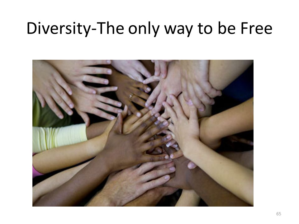 Diversity-The only way to be Free