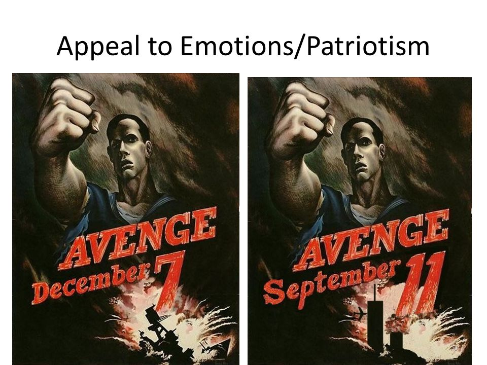 Appeal to Emotions/Patriotism