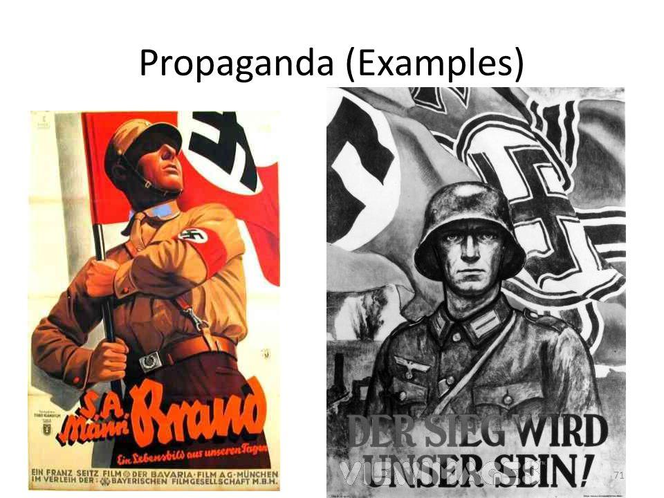 Propaganda (Examples)