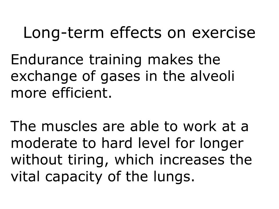 Long-term effects on exercise