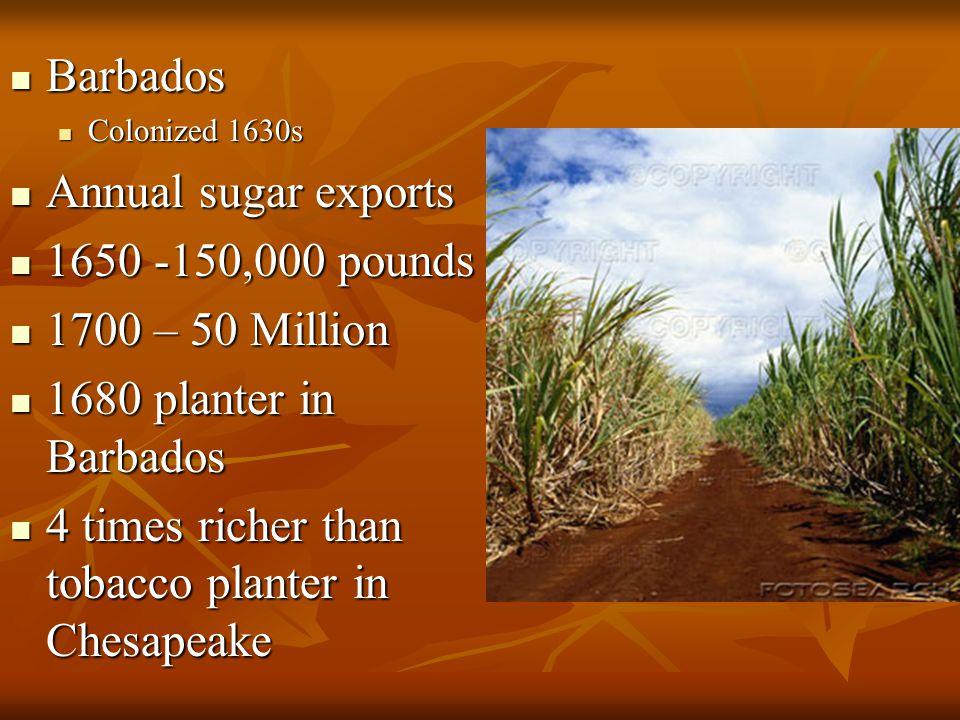 4 times richer than tobacco planter in Chesapeake