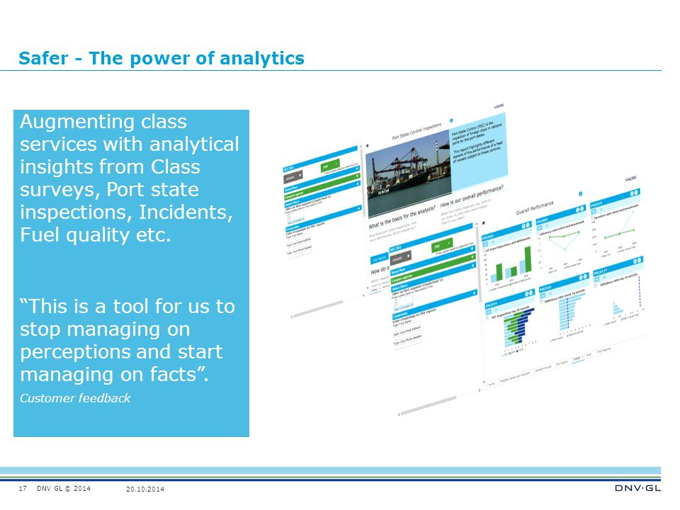 Safer - The power of analytics